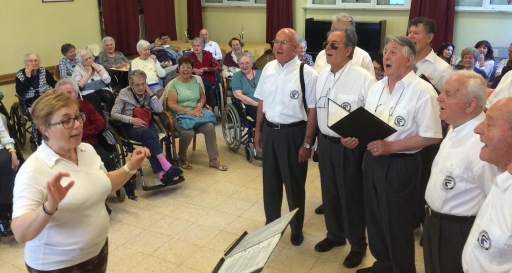 Concerto per la festa dei compleanni di maggio presso la casa di riposo Villa San Giusto di Gorizia